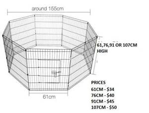 NEW BUDGET Metal PET Encl-8 panel- 4 SIZES -FROM $34- BLACK-FREE COVER
