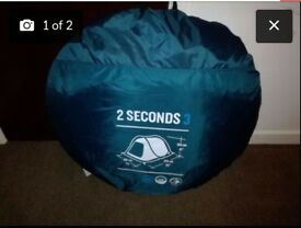 Camping tent and chairs
