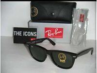 Raybans Jet Black 1 left Labels + Tags, Ebay selling