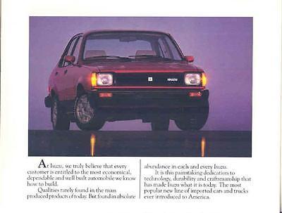 1982 Isuzu LS & I-Mark Diesel Brochure mx1910-ZPH5Z5