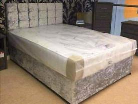💯Brand new crush velvet beds- FREE DELIVERY
