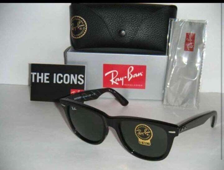 Rayban Jet Black With Tags And Barcode