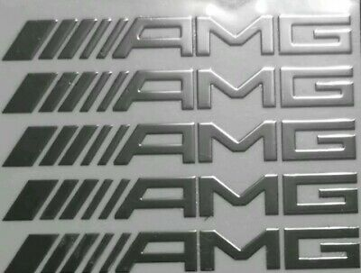 1xStück AMG Aufkleber Aus Aluminium Für Mercedes Maße 52x6mm 3D Chrom