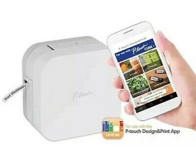 Brother P-touch Cube Smartphone Label Maker Bluetooth Wireless Ptp300bt
