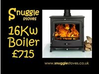 Stove. 16kw boiler. Multi-fuel. Delivery £20.