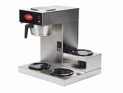 Commercial Stainless Restaurant Pourover Coffee Maker Brewer 3 Warmers 120v