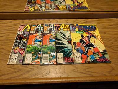 Lot of 5 Marvel Comics Avengers West Coast