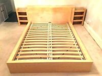 Ikea MALM king size bed frame with storage headboard/ bedsides