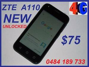 NEW ZTE  BLADE A110 4G UNLOCKED  4 INCH 5MPX CAMERA $75 Castle Hill The Hills District Preview