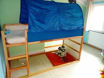 Tente pour lit KURA Bleue étoilée Ikea Accessoire enfant