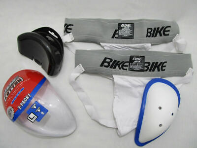 Bike Youth Brief Cup Supporter White #7146 Jockstrap All Sports Size Large Comfortable Feel Baseball & Softball