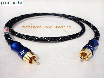 - E03(1m 3ft)---Digital Coax 75Ω RCA/Phono(male to male) 4N-OFC HIFI Audio Cable
