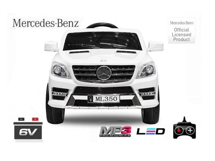 Lizenz Elektro Kinderauto Mercedes ML350 | 6V | 1x25W Motor RC Elektroauto