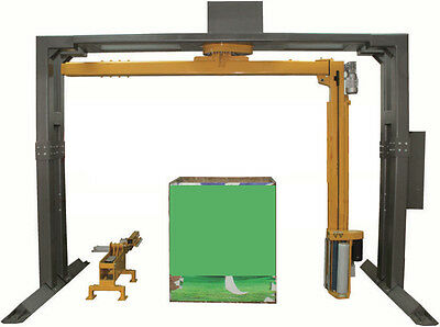 Semi Or Automatic Wrapping Wrap Stretch Film Rotative Arm Machine - Uscanpack