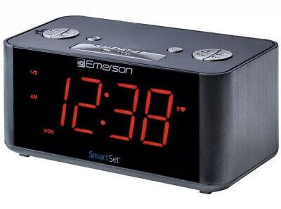Emerson SmartSet Alarm Clock Radio with Bluetooth Speaker, ER100201