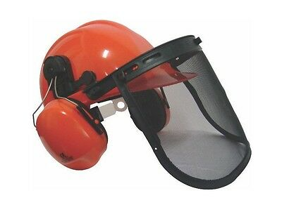 Chainsaw Helmet Mesh Visor Chinstrap Ear Defenders also Strimming Brushcutting