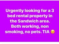 Looking to rent a 3 bed house