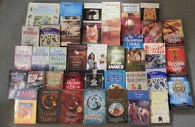 Job Lot 1 - 40 Books (Mostly fiction) (ideal for stalls/car boots, etc)