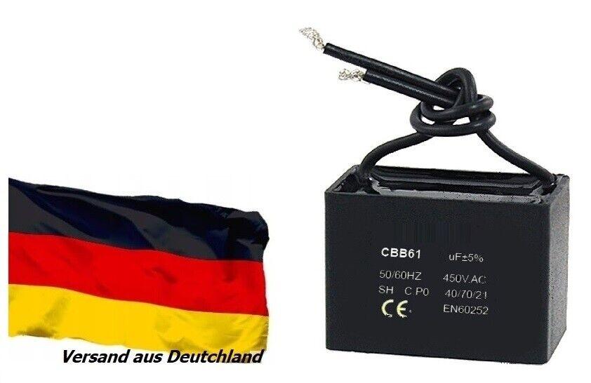 CBB61 Komplett 1-20uF 450V AC Anschluss Decke Fan Motor laufen Kondensator