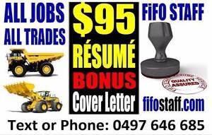 Perth Resume FIFO STAFF Perth CV & Resume Service Perth Perth City Area Preview