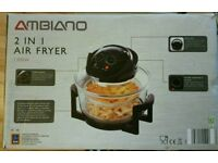 Ambiano 2 in air fryer 1300w never used boxed