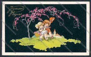 Castelli-children-Easter-postcard-cartolina-B6932-SZI