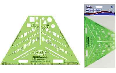 Alvin ISOMETRIC PIPING Design Template Stencil MADE IN USA TD1143
