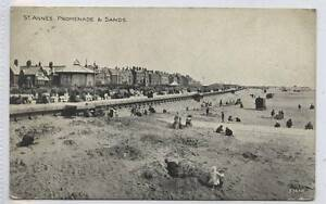 w14o7-345-Promenade-and-Sands-St-Annes-1923-Used-G-VG
