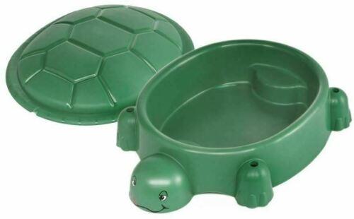 Kindersandkasten Schildkröte Sandbox mit Deckel Planschbecken Pool 115x83 grün