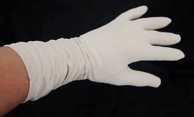 Vintage Simplex Beige Mid Arm Nylon Stretch Special Occasion Gloves Size 7