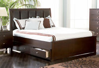 NEW! Full, Queen or King Storage Bed! Same Day Delivery!