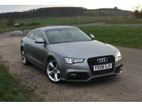 Grey Audi A5 Coupe 3.0 TDI Quattro, 08 plate, facelift front and rear LEDs