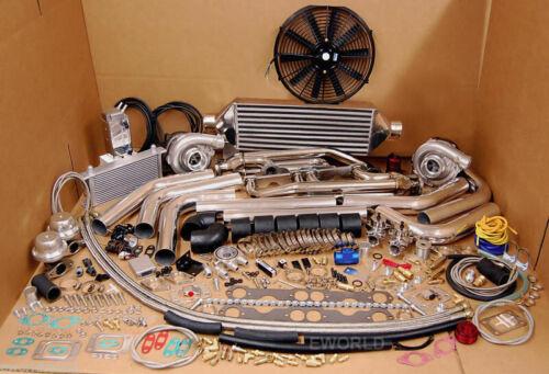 Twin Turbo SBC Kit GMC Chevy Blazer Tahoe 305 350 5.7L 1500 Silverado Sierra NEW