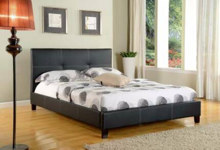 Brand New Paradise Pu Leather Double Bed.White Colour Only