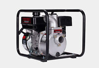 Gas powered water pump with heavy duty intake line