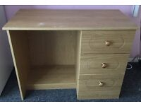solid wood dressing table with draws 37.5 inch width 17 depth has a mark on the top paid 260 new
