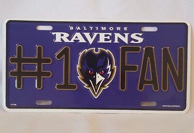 ***LOOK*** Baltimore Ravens License Plate NFL AFC # 1 Fan 12
