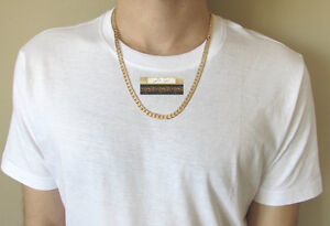 NEW 9K Gold Filled Cuban Curb Miami Rose/White Hip Hop Chain