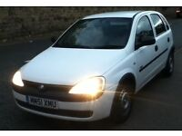 2001 51 plate vauxhall corsa 1.7 di diesel low mileage long mot may px s w a p