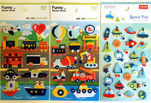 Cute Fun Children's transport spaceship gift diary scrapbook Felt Stickers