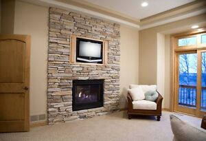 FIREPLACE  REMODELLING  / MAKEOVER by stone veneer $ 499 ..