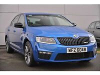 Skoda Octavia 2.0 TDi CR vRS (184bhp) (race blue metallic) 2015