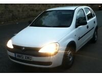 2001 51 plate vauxhall corsa 1.7 di low miles kin mot may px