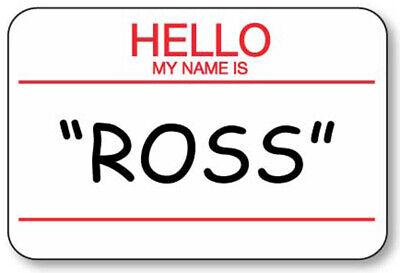 Ross Halloween Friends (ROSS ON FRIENDS NAME BADGE PROP HALLOWEEN COSTUME PIN)