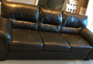 All-leather couch