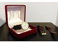 Omega De Ville - solid 18k gold watch w/ sapphire face - Quartz vintage retro Classic mens / womens