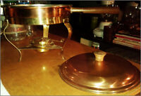 Fondue / Chafing Pan (Copper Brass Stainless Steel)