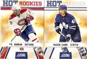 2010-11 Score Hockey Complete Set ( 550 cards - 50 RC's)
