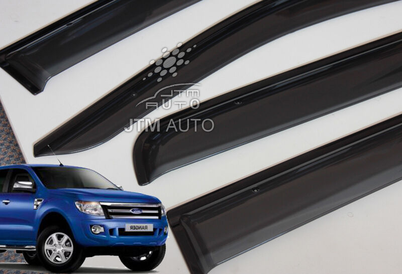 Injection Weather Shields,Window Visors for Ford Ranger PX Dual Cab  2012-2018