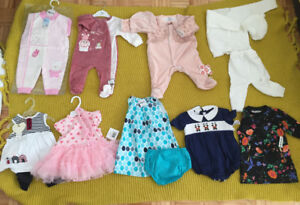 Baby girl Clothing /Vêtment pour bebe fille /6 to 12 months/mois